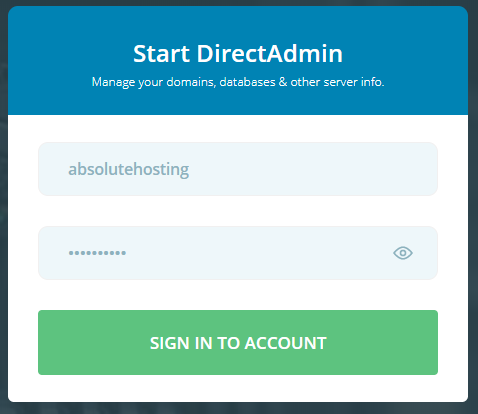 absolutehosting.co.za log into directadmin