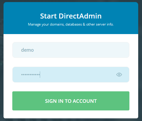 absolutehosting.co.za DirectAdmin login