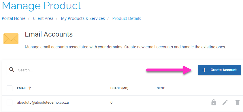 Email only hosting create new email account