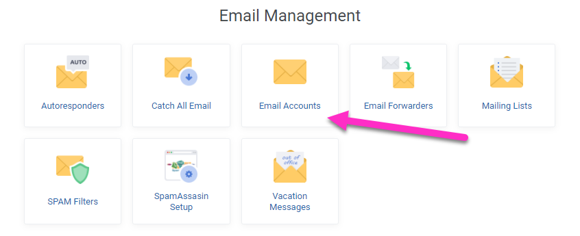absolutehositng.co.za - email management accounts