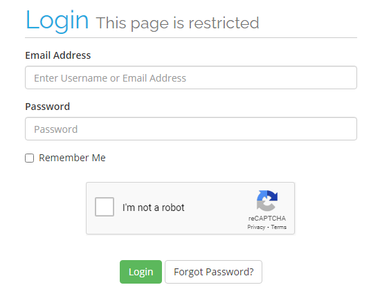 Absolute Hosting Client Service Area Login